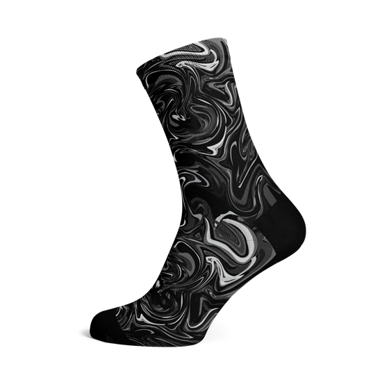 Picture of MARBLE BLACK SOCKS
