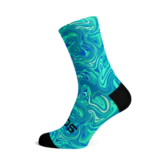 Picture of MARBLE BLUE SOCKS