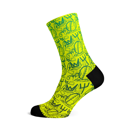 Picture of HASIE & THE ROBOTS CROWN SOCKS
