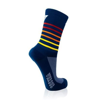 Picture of Navy Sunrise Cycling Socks